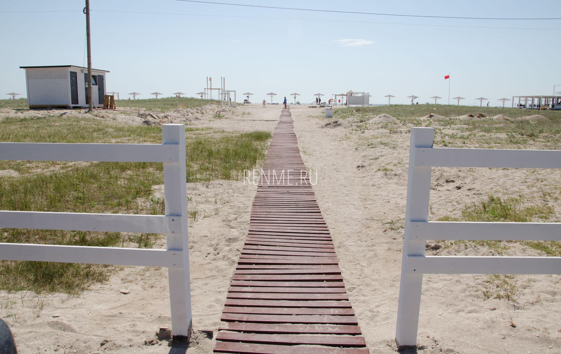 Вход на пляж Бухта Караджа. Фото Оленевки