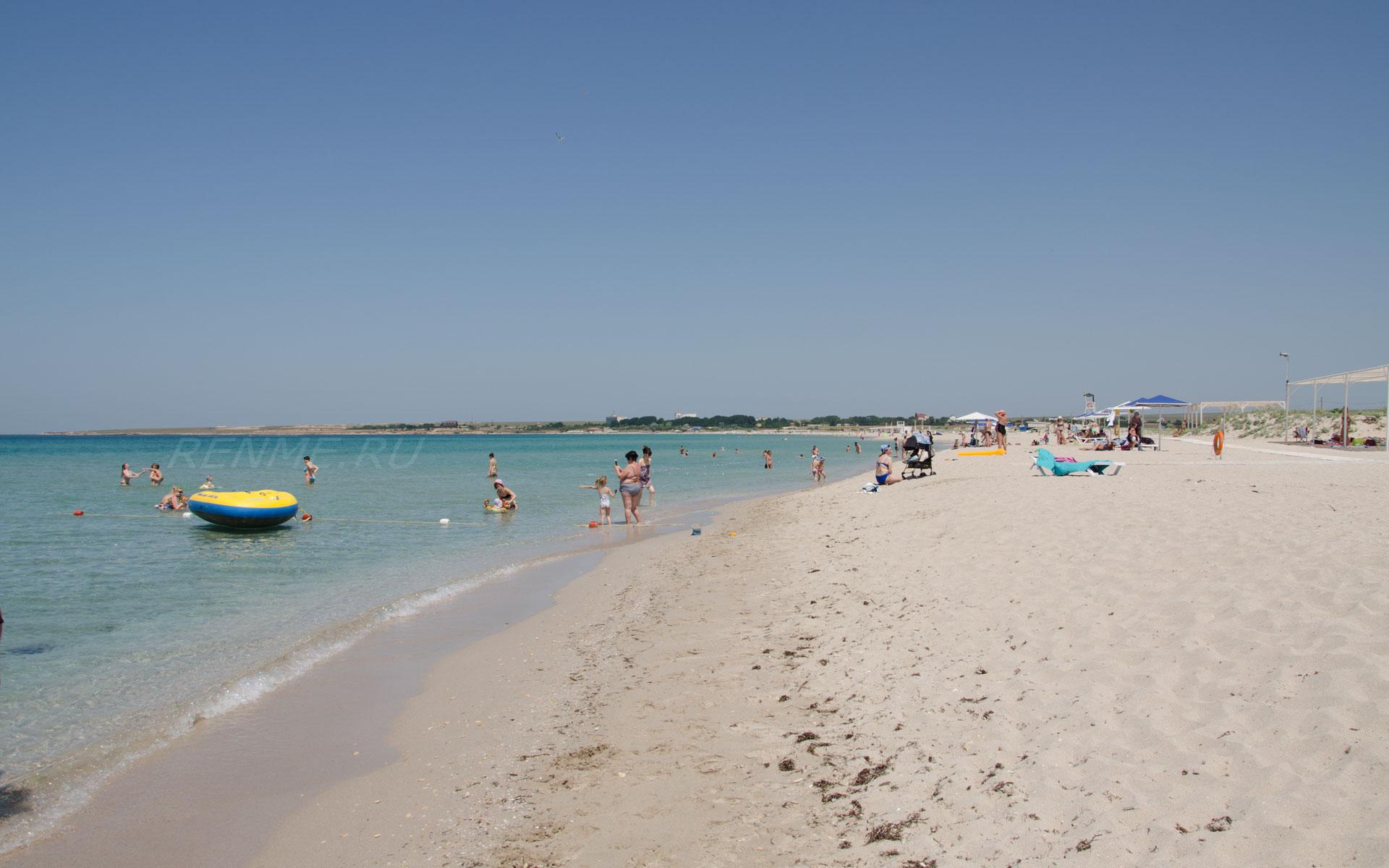 Лучший пляж для детей. Фото Оленевки