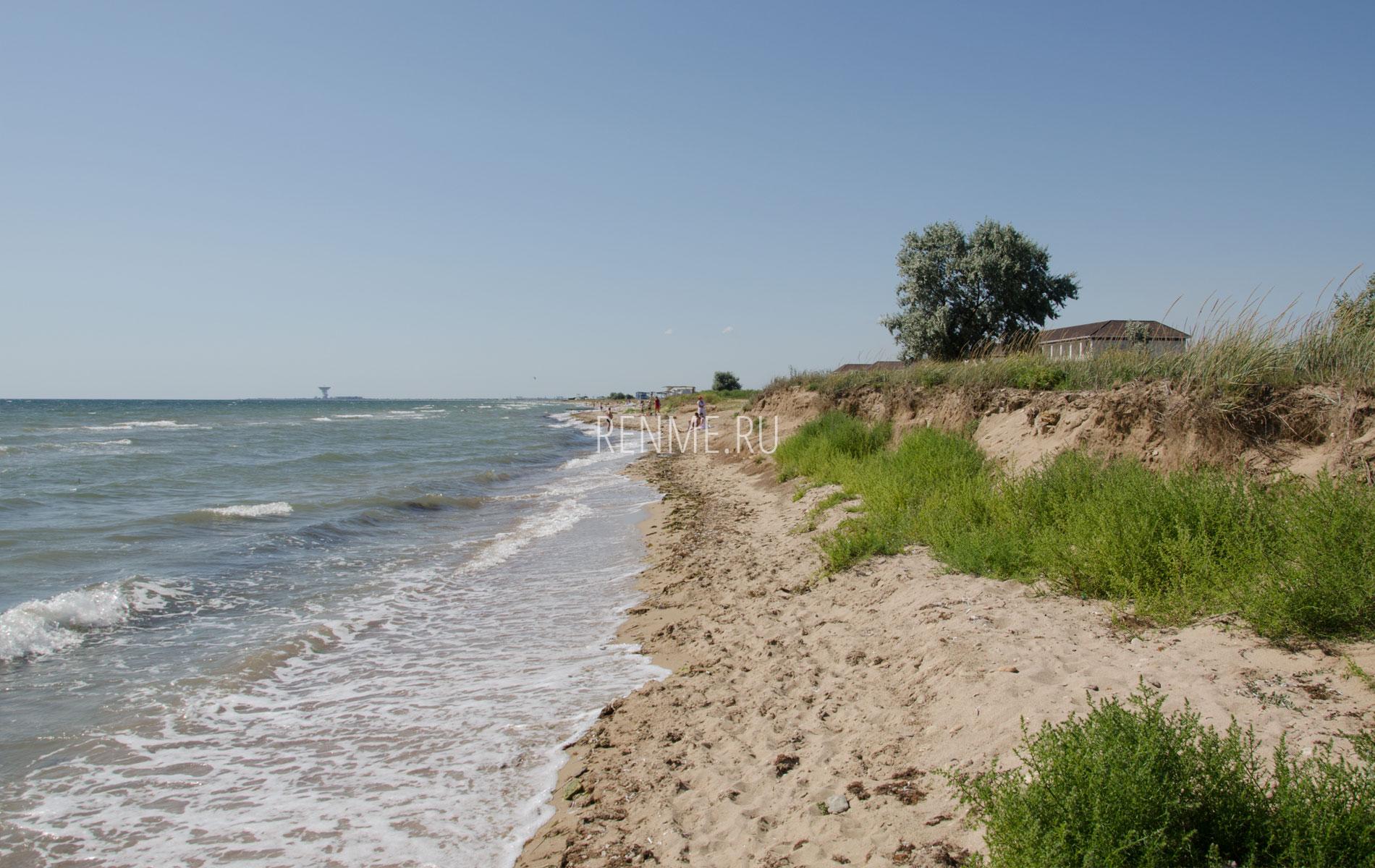 Дикий песчаный пляж в Заозерном 2019. Фото Заозёрного