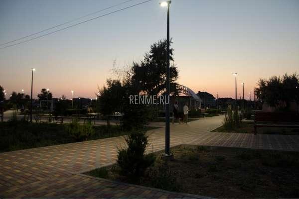 Вечер в Заозёрном. Фото Заозёрного